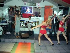 Yvonne Sanchez and dancers